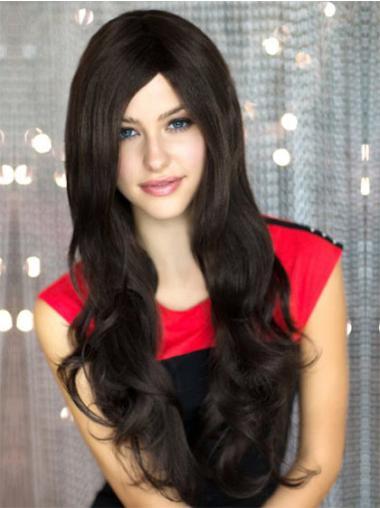 Popular Synthetic Wavy Black Long Wigs