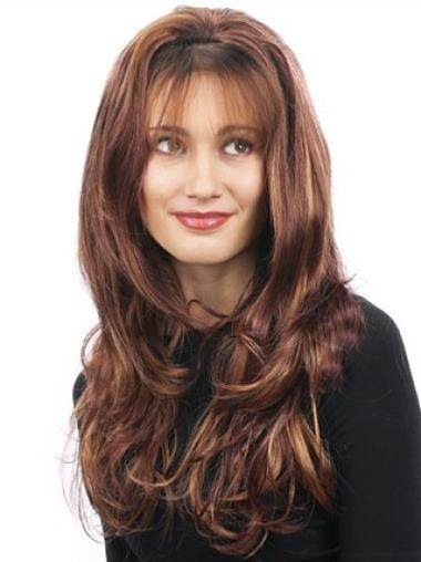 Traditiona Auburn Wavy Long 3/4 & Half Wigs