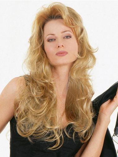 Fabulous Blonde Wavy Long 3/4 & Half Wigs