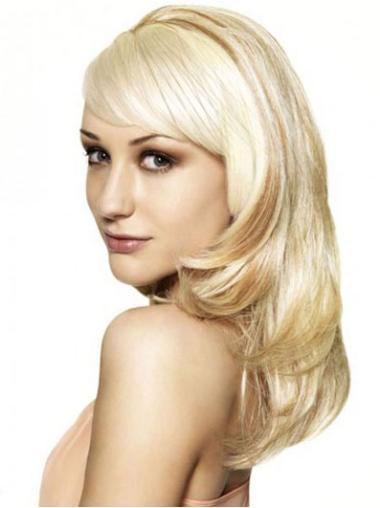 Modern Blonde Wavy Long Hair Falls & Half