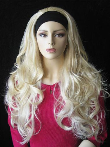 Perfect Blonde Wavy Long 3/4 & Half Wigs