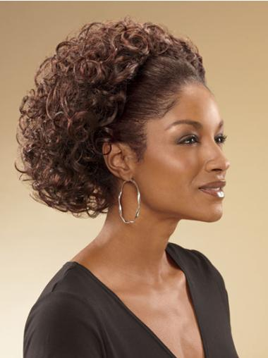 Gorgeous Brown Curly Chin Length 3/4 & Half Wigs