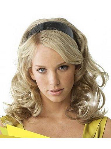 Flexibility Blonde Wavy Long 3/4 & Half Wigs