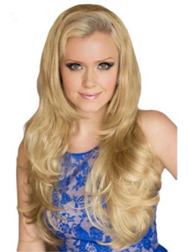 Exquisite Blonde Wavy Long 3/4 & Half Wigs