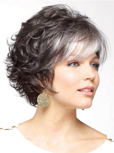 No-fuss White Curly Short Classic Wigs