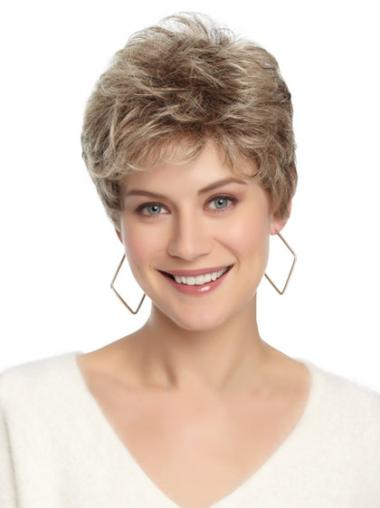 Good White Wavy Cropped Petite Wigs