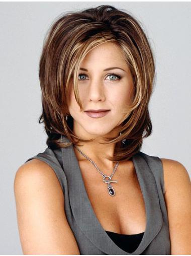 Popular Shoulder Length Wavy Brown Layered Jennifer Aniston Inspired Wigs
