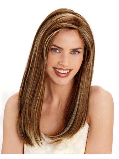 Hairstyles Brown Straight Long Human Hair Wigs