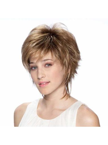 Gentle Blonde Synthetic Straight Short Wigs