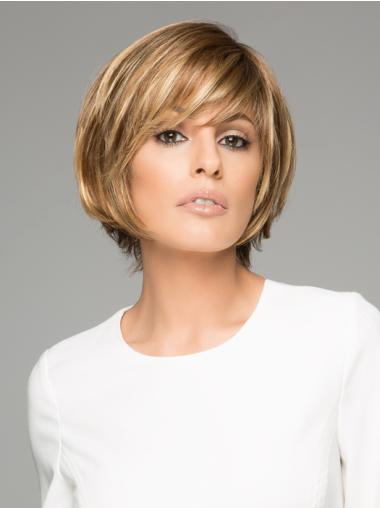 Short Straight Brown Gorgeous Lace Wigs