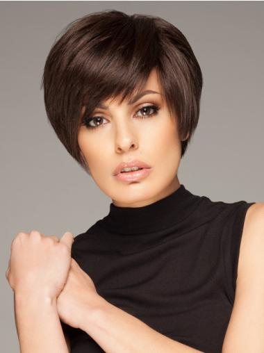 Durable Straight 100% Hand-tied Boycuts Short Wigs