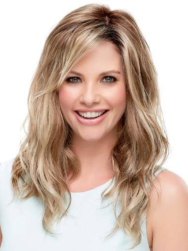 Suitable Wavy 100% Hand-tied Layered Long Wigs