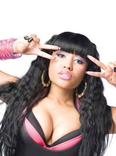 Modern Black Curly Long Nicki Minaj Wigs
