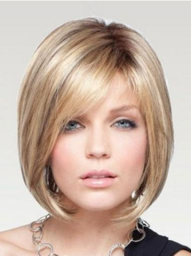 Monofilament Blonde Straight Trendy Wigs