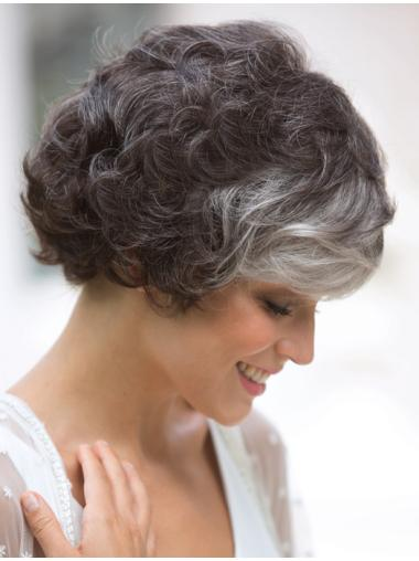 Amazing Short Curly White Exquisite Classic Wigs