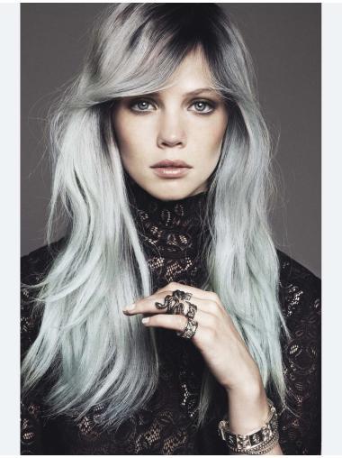 Beautiful Long Straight Perfect Grey Wigs