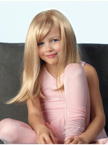 High Quality Long Straight Blonde With Bangs Fabulous Wigs