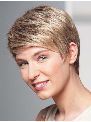 Perfect Blonde Cropped Wavy Boycuts Beautiful Wigs
