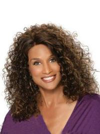 Beverly Johnson Classic Bouffant Mid-length Curly Lace Human Hair Wig