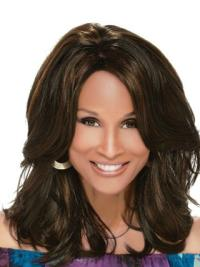 Beverly Johnson Elegant Gorgeous Mid-length Wavy Layered Lace Human Hair Wig