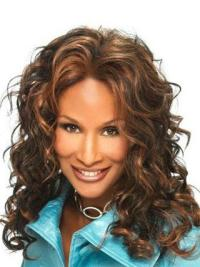 Beverly Johnson Beauty Queen Mid-length Curly Lace Human Hair Wig