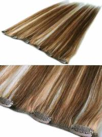 Style Brown Straight Clip in Hair Extensions