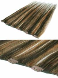 Designed Brown Straight Clip in Hair Extensions