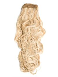 High Quality Blonde Curly Tape in Hair Extensions