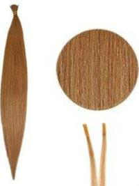 Radiant Auburn Straight Stick/I Tip Hair Extensions