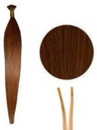 Impressive Auburn Straight Stick/I Tip Hair Extensions