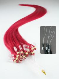 Cosy Red Straight Hair Extensions Micro Loop Ring
