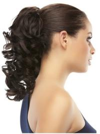 Radiant Brown Curly Clip in Hairpieces