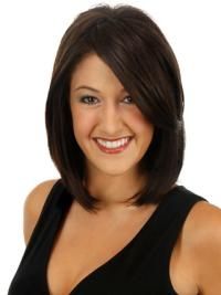 Amazing Brown Straight Clip in Hairpieces