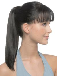 Refined Black Straight Ponytails