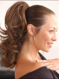 Fashion Brown Wavy Synthetic Ponytails