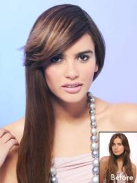 Trendy Brown  Clip In Fringe