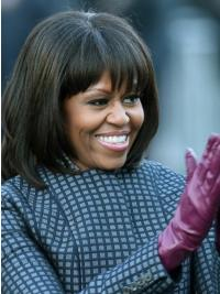 Layered Haircut Wig With Bangs Remy Human Hair First Lady