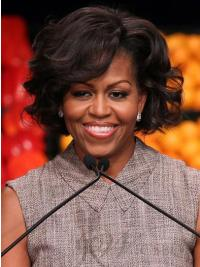 Michelle Obama Straight Human Hair First Lady Wigs