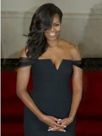 New Arrival Hand-tied Long Wavy Michelle Obama Wigs