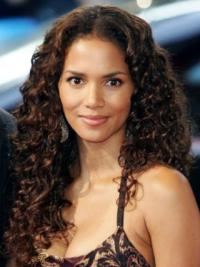 Halle Berry Gorgeous and Bouncy 100% Human Remy Hair Long Layered Curly Lace Front Human Hair Wig 20 Inches