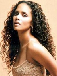 Halle Berry Beautiful and Comfortable Ultra-long Body-curl Style Lace Human Hair Wig 26 Inches