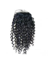Braw Black Curly Long Lace Closures
