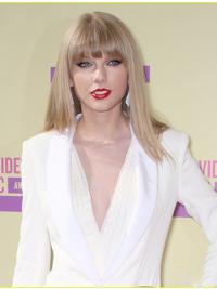 Impressive Blonde Straight Shoulder Length Taylor Swift Wigs