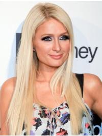 Cool Blonde Straight Long Paris Hilton Wigs