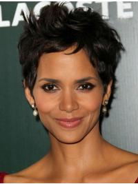 Lace Front Black Wavy Fashionable Halle Berry Wigs