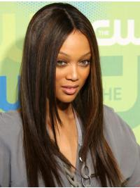 Lace Front Brown Straight Online Tyra Banks Wigs