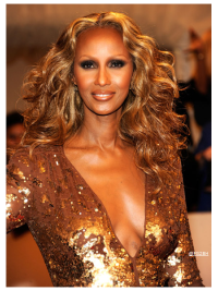Iman Fashion Stylish Natural Long Wavy Lace Front Wig Synthetic Hair Wigs