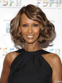 Iman Beautiful Elegante Lace Front Wig Top Quality Synthetic Hair Wigs