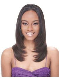 Durable Brown Straight Long African American Wigs