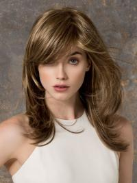 Monofilament Brown Straight Braw Long Wigs